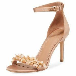 NWT Tory Burch Rose Silk  85mm Heels Sandals